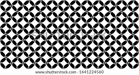 Black and white houndstooth pattern repeat check motif. Simple geometric all over print block for apparel textile, patchwork fabric, swimwear, silk scarf, bandana, mens polo t shirt, fashion garment.