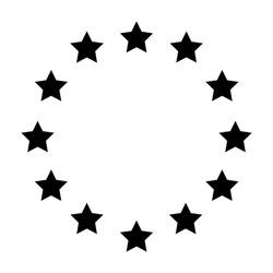 Black and white icon Brexit Britan's exit for european union