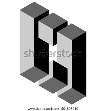 black and white illustration of phenomenal optical illusion