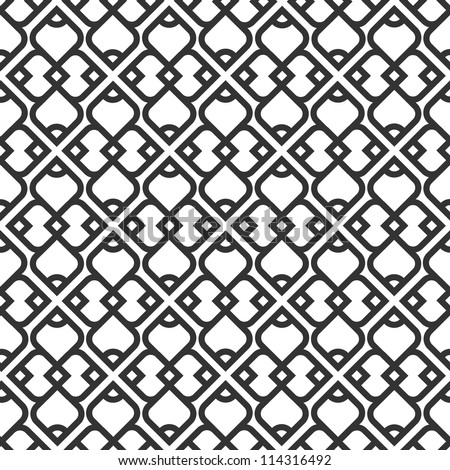 Black and white islamic seamless pattern. Vector illustration