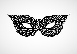 Black and white isolated masquerade mask. Eps8. RGB. Global color