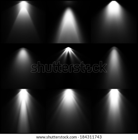 black and white light sources