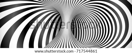 Black and white lines optical illusion horizontal background