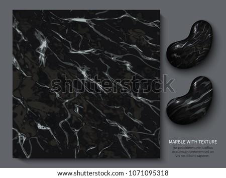 black and white marble retro