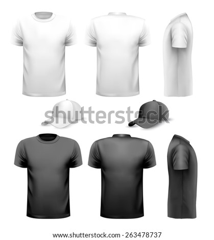 black and white men t shirt and