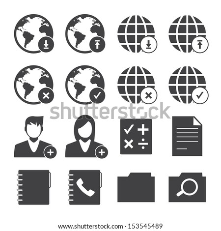 Black and White mobile phone icons network set.Vector EPS10