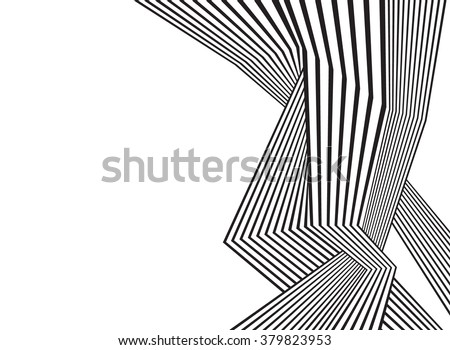 black and white mobious wave