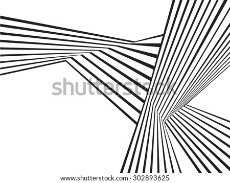 Beautiful Black And White Mobious Wave Stripe Optical Art Abstract Design