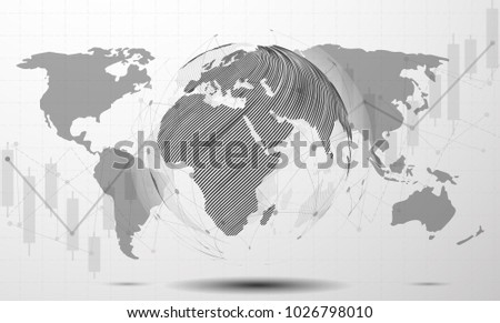 Technology style background with earth and network lines descargue black and white modern minimal style cloud computing networks structure world map point and line gumiabroncs Images