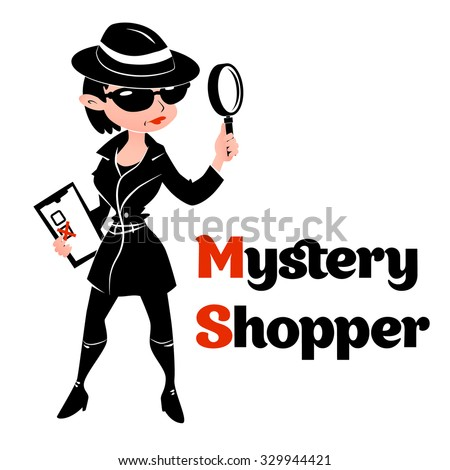 black and white mystery shopper