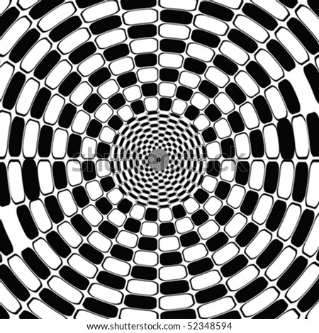 Black and white optical effect