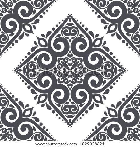 black and white ornamental