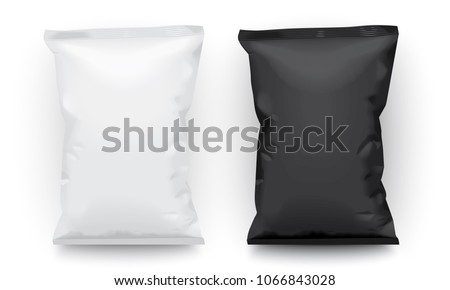 black and white packaging mock up vector