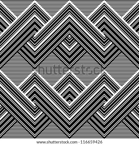 Black and white pattern by lines