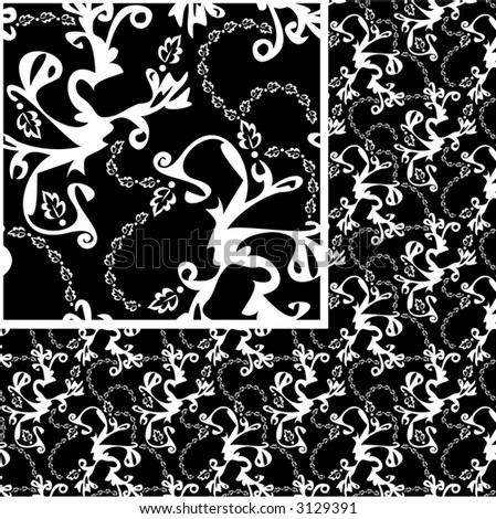 black and white patterns backgrounds. stock vector : Black and white