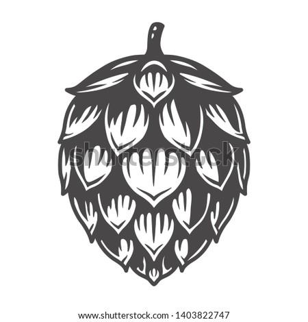 Black and white сraft beer hop seed