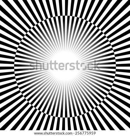 Black and white Rays, star burst background with alternating checkered stripes.
