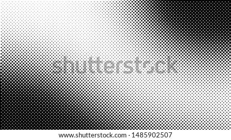 Black and white retro comic pop art background with halftone dots design, vector illustration template