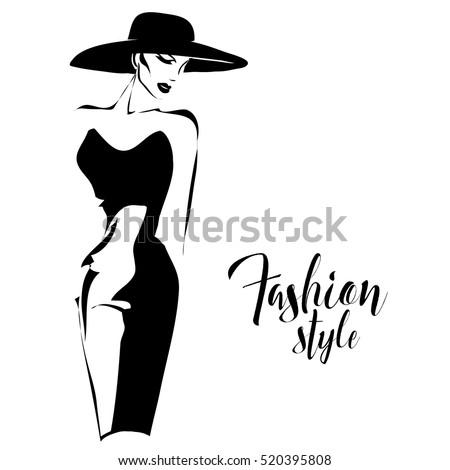 black and white retro fashion