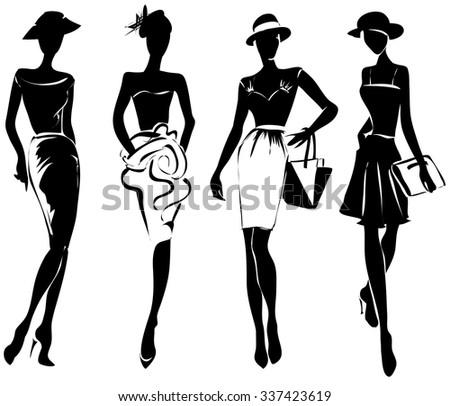 black and white retro fashion...