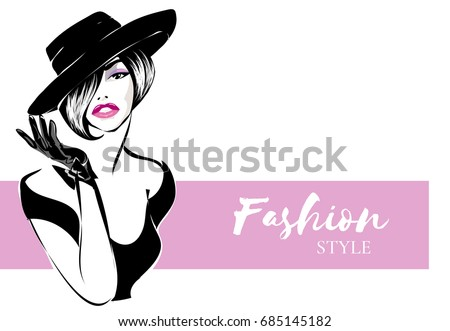 black and white retro fashion