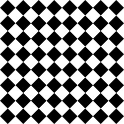 Black and white rhombuses seamless pattern. Vector illustration.
