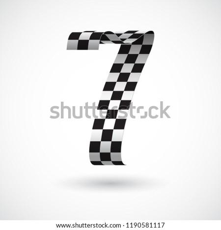 black and white ribbon 7 vector