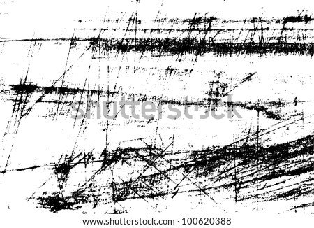 Black and white scratches abstract background - stock vector