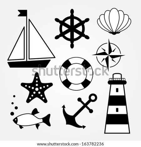 Sea Symbols Icons Ez Canvas