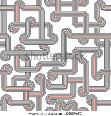 Black and white seamless - stock vector
