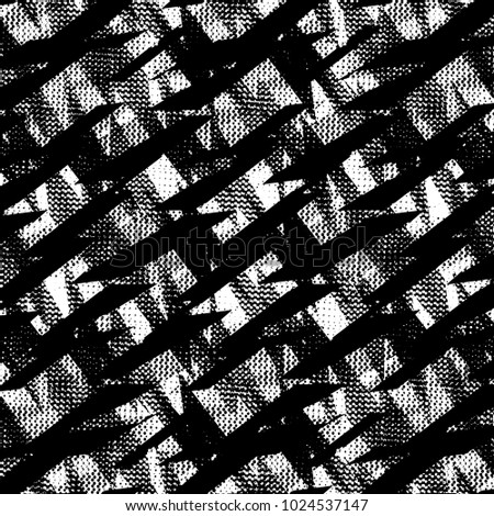 Black and white seamless pattern with dots, decorative shape of lightning, lines. Geometric elements. Monochrome wallpaper. Abstract seamless pattern for textile, clothes, wrapping paper
