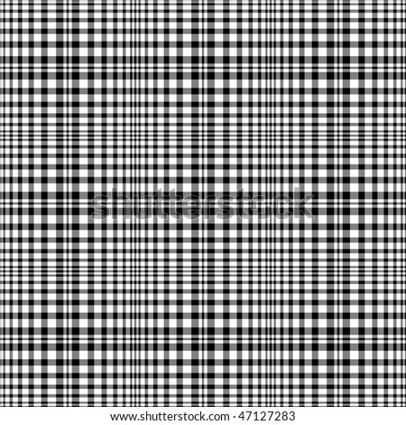 Black and white seamless tartan pattern (vector EPS 10)