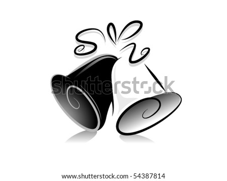 Black and White Series: Wedding Bells - Vector