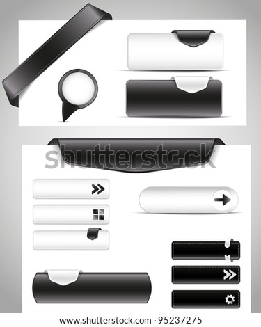 black and white set for your site