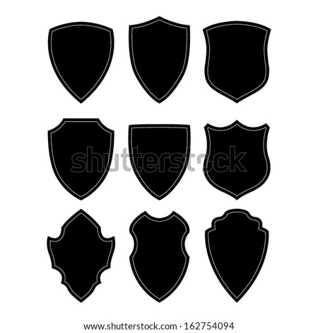 stock-vector-black-and-white-shield-silhouette