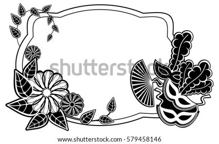 Line Art Flower Design : Free vector colorful flowers mardi gras mask download