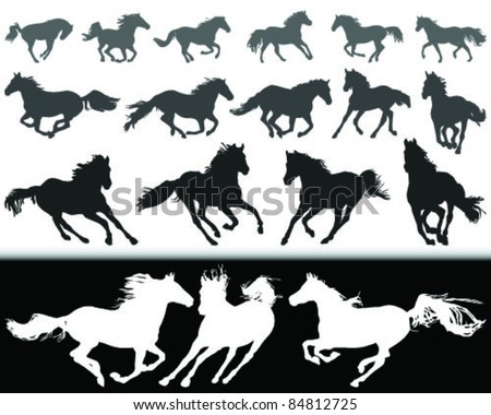 black and white silhouette of a