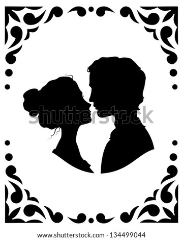 black and white silhouettes of
