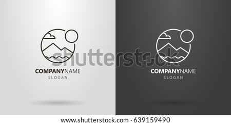 black and white simple vector
