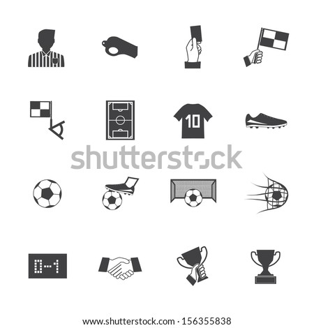 Black and White Soccer football icons vector eps10