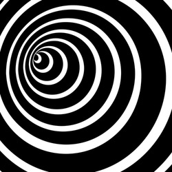 Black and white spiral tunnel