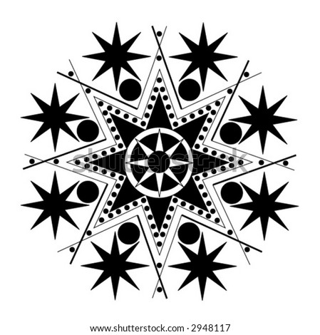 Black And White Stars. stock vector : lack and white