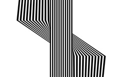 black and white stripe line abstract graphic optical art
