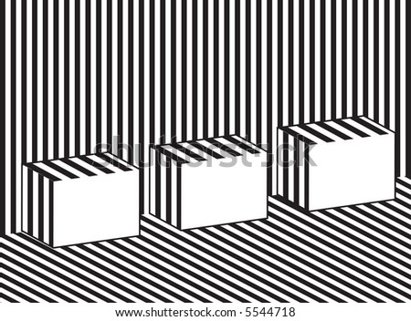 black and white striped background. stock vector : lack and white