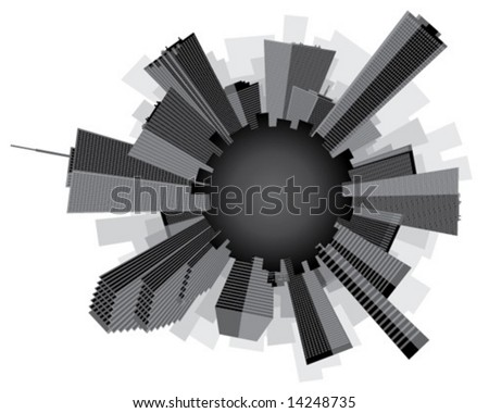 city skyline wallpaper black and white. Black and White City No Cross
