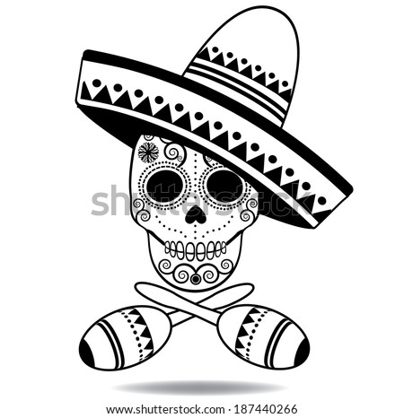Infographic design on the grey background eps 10 vector file - Black And White Sugar Skull Eps 10 Vector Grouped For