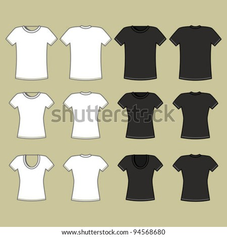 Black and white t-shirt template