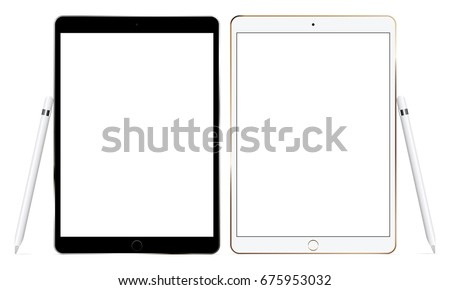 black and white tablet
