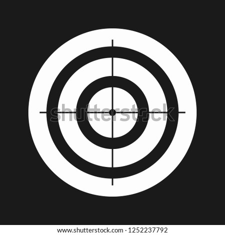 black and white target super
