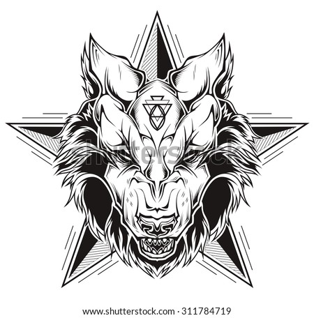 black and white tattoo of a